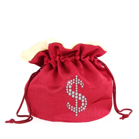 Dollar symbol over a sack photo