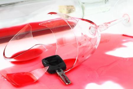 Ne boire et conduire Banque d'images - 10934411