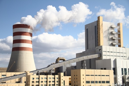 Power plant with smoking chimney Stock Photo - 10934409