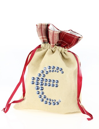 Euro sign on a moneybag