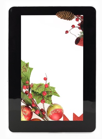 Decorative Christmas digital tablet frame photo