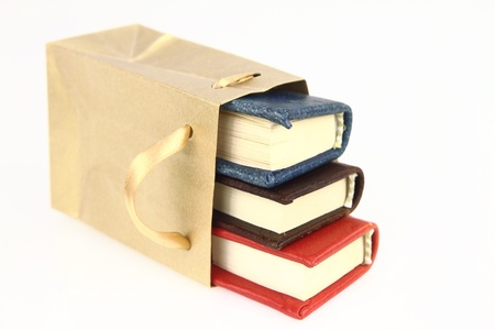 Books in a paper bag  photo