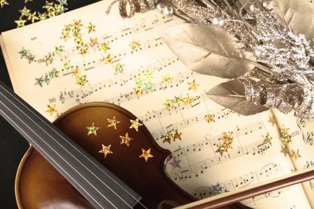 violines: Música de Navidad