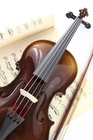 violins:  Violin and music sheet Stock Photo