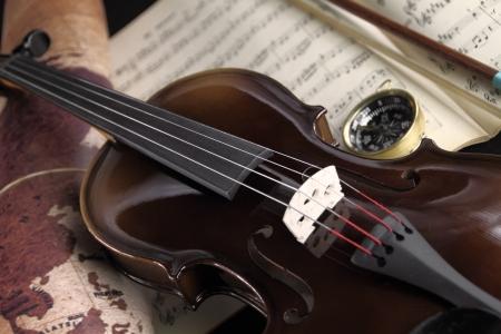 楽器: ヴァイオリン 写真素材