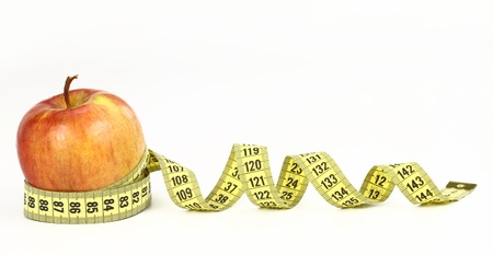 dietitian: Apple and diet Stock Photo