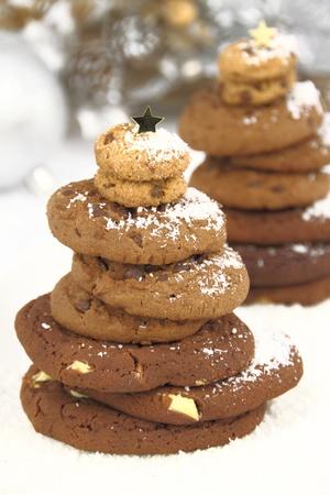 Christmas cookies tree photo