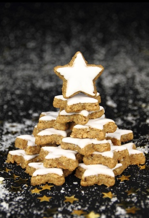Christmas star cookies tree photo