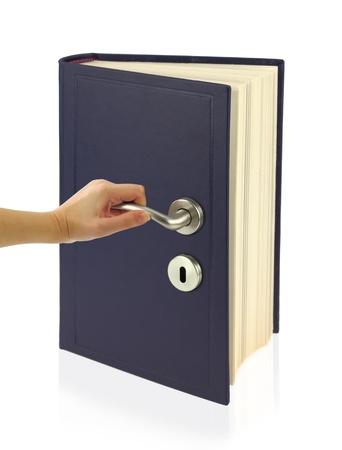 Open the door of knowledge photo