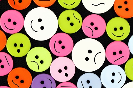 Clothes buttons with funny faces  photo