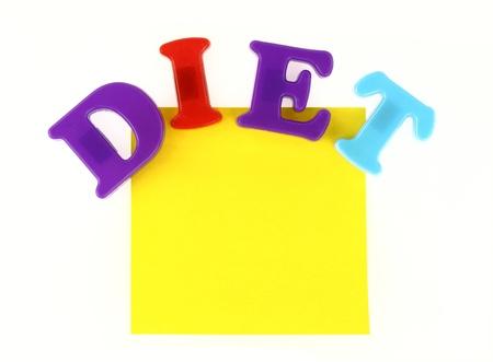Diet note photo