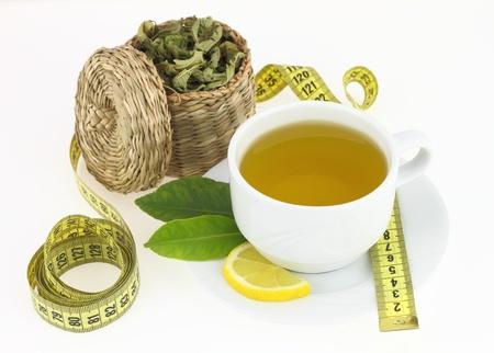 Cup of verbena  Stock Photo