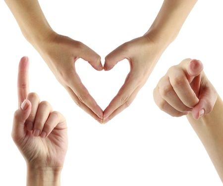 hand movements: I love you!
