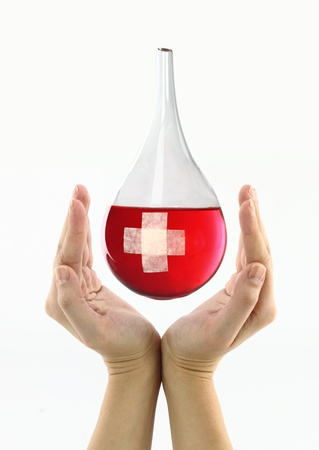 drop of blood:  Blood donation