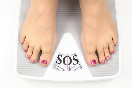 scale weight: Need diet Stock Photo