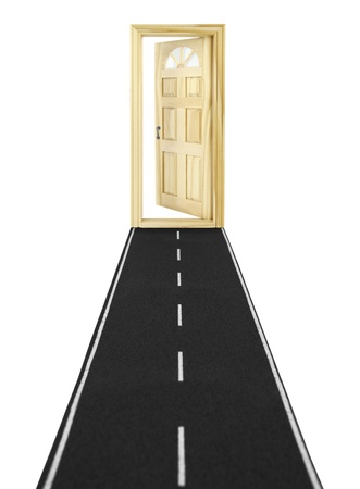 abriendo puerta: Puerta