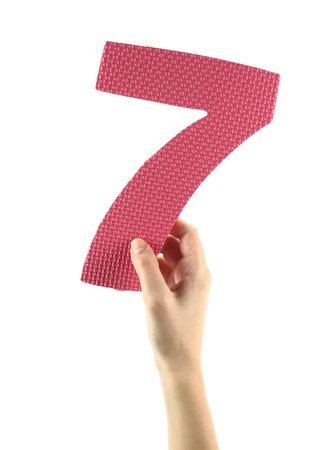 Number seven Stock Photo - 12372813