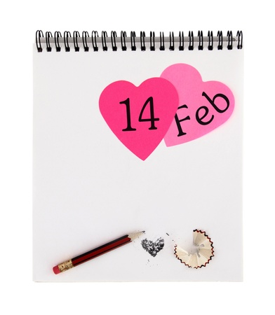 Valentine's day notepad Stock Photo - 12372820