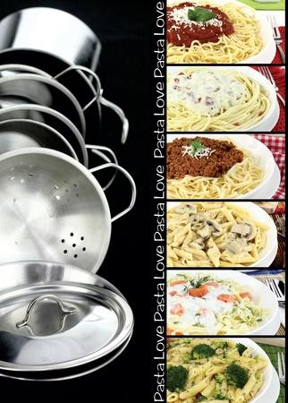 italian foods: Pasta collection Stock Photo