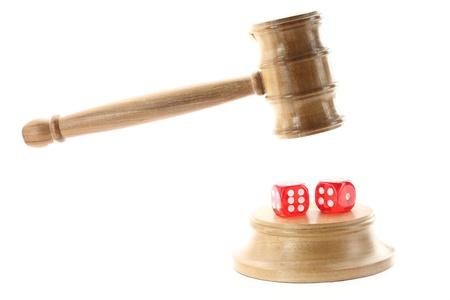 Bid:  Gambling and Justice Stock Photo