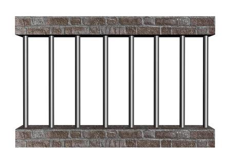 cellule de prison: barreaux d'une prison