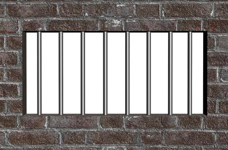 rejas de hierro: Barrotes de la prisión