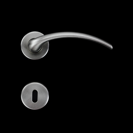 door handles: Door handle and keyhole Stock Photo