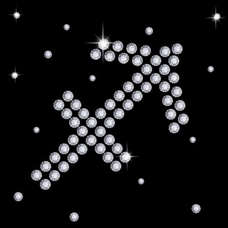 brilliancy: Diamond Sagittarius Stock Photo