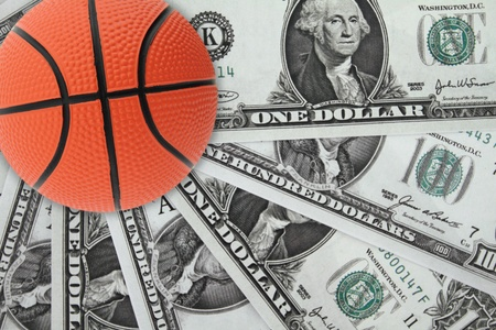 Basket and money Stock Photo - 12687582