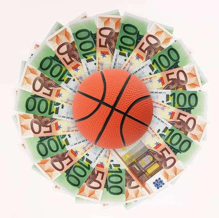 Basket and money Stock Photo - 12687375