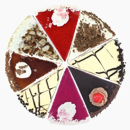 Cake slices photo