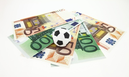 Football and money Stock Photo - 12687371