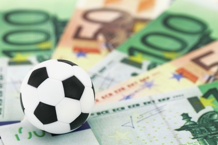 bets: Football and money Stock Photo