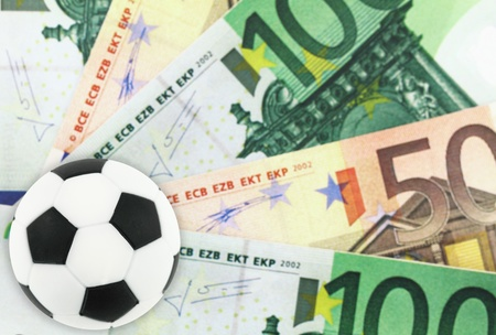 gambling game: Football and money Stock Photo