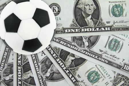Soccer and money Stock Photo - 12687581