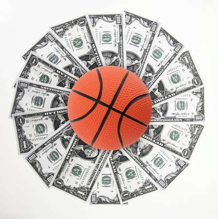 Basket and money Stock Photo - 12687412