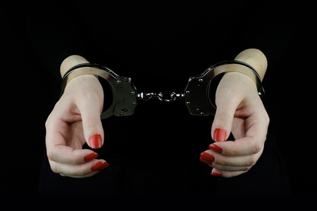 female prisoner: Arrested Woman
