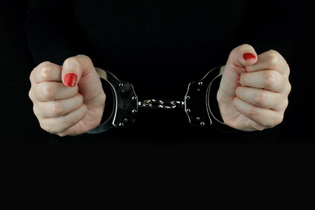 handcuffs girl: Arrested Woman