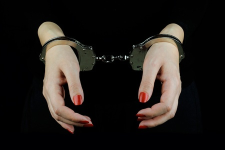 shackles: Arrested Woman