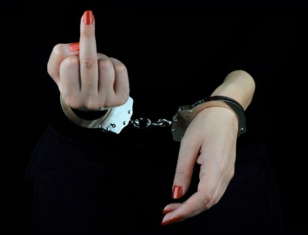 Arrested Woman  Stock Photo - 12687071