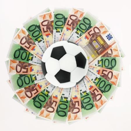 Football and money Stock Photo