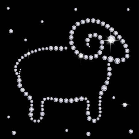 Diamond sheep photo