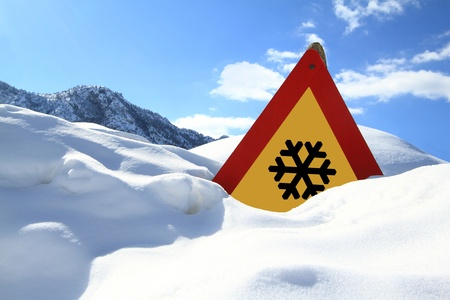 Snow sign  photo