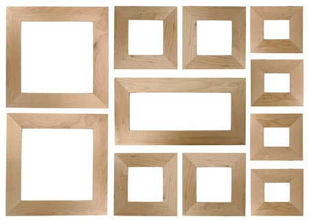 framed picture: Blank wooden frames for photos