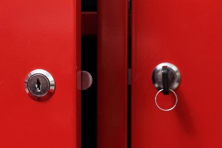 Red cabinet door  photo