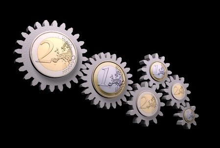Money gear Stock Photo - 13044532