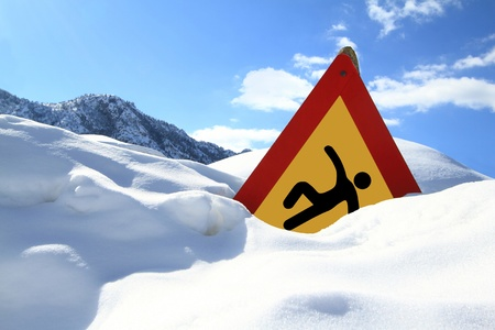 �Slippery Surface� road sign  photo