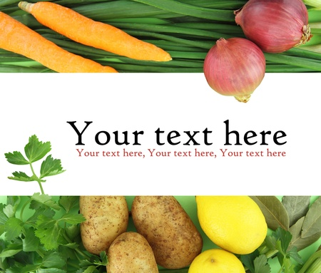 Background of fresh vegetables photo