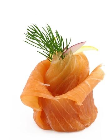 salmon fish: Smoked salmon appetizer