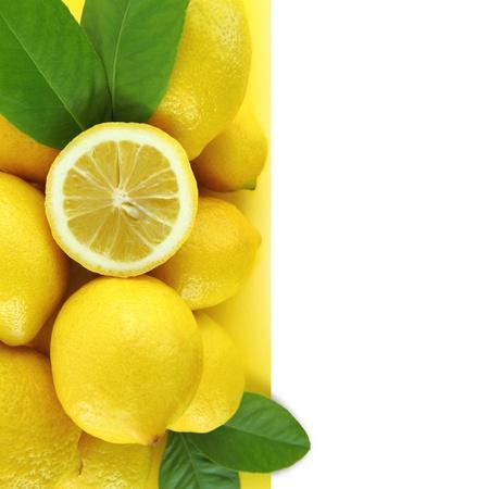 Background of fresh lemons photo